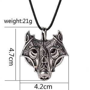 Tredfashions Unique Silver Wolf Necklace - Tred Fashions