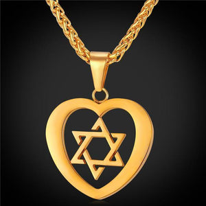 Tred Fashions Gold-color Tredfashions Jewish Jewelry Magen Star Of David