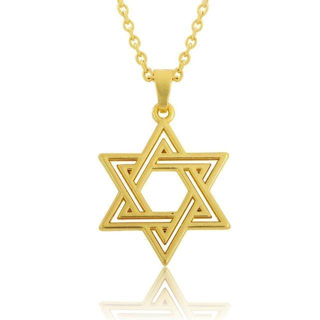 Tred Fashions Necklace Gold-color Tredfashions Gold & Silver Star Of David Necklace