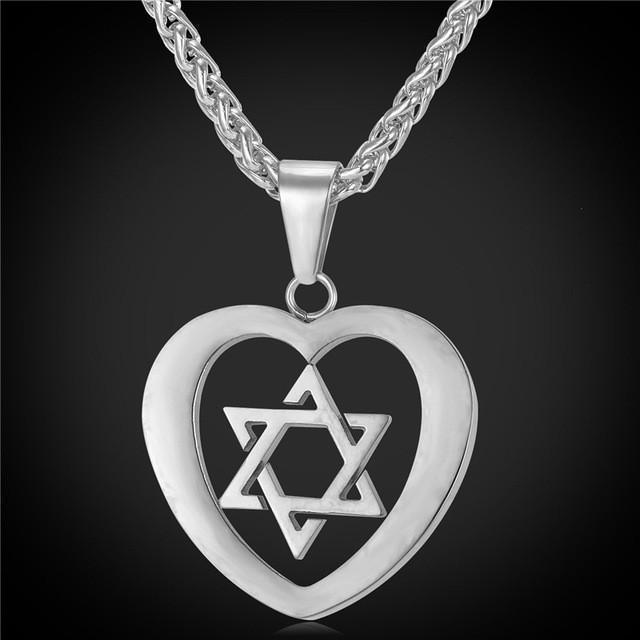 Tred Fashions Stainless Steel Tredfashions Jewish Jewelry Magen Star Of David