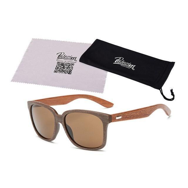 Tred Fashions Sunglasses 05 / As shown Tredfashions Designer Wooden Frame Sunglasses