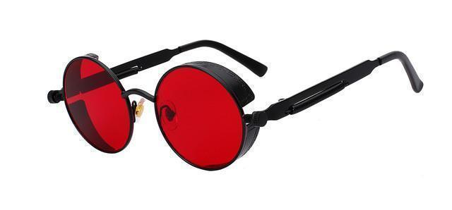 Tred Fashions Sunglasses Black w sea red Tredfashions Round Metal Sunglasses Men Sunglasses