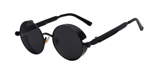 Tred Fashions Sunglasses Matt Black w black Tredfashions Round Metal Sunglasses Men Sunglasses