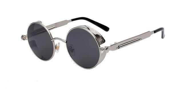 Tred Fashions Sunglasses Silver w black Tredfashions Round Metal Sunglasses Men Sunglasses