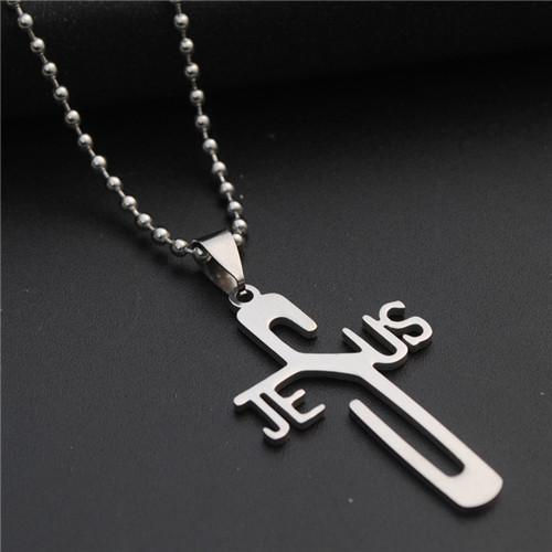 Tred Fashions Tredfashions Jesus Stainless Steel Cross Necklace