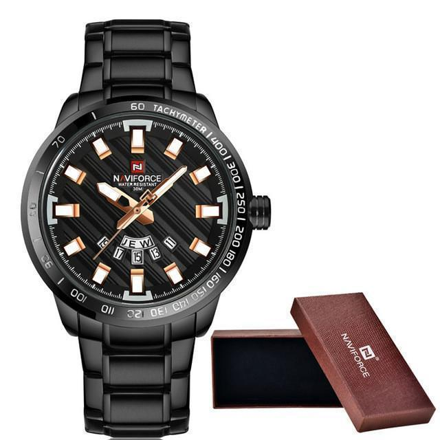 Tred Fashions Watch rose gold black Tredfashions Luxury Men's Watch