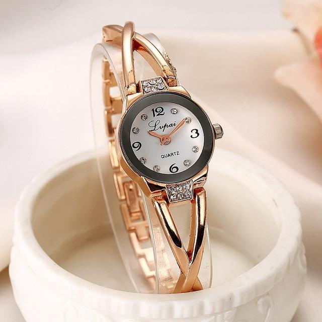 Tred Fashions Watch Rose Gold White 744 TredFashionsi Summer Style Gold Watch  Women Wristwatch