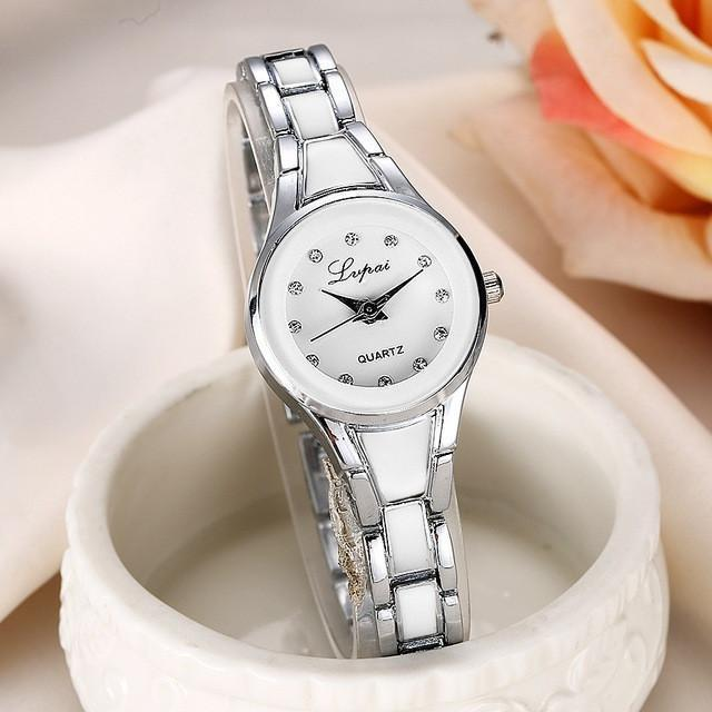 Tred Fashions Watch Silver White1679 TredFashionsi Summer Style Gold Watch  Women Wristwatch