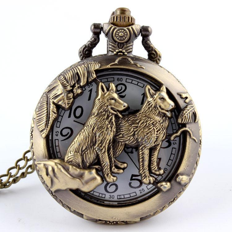 Tred Fashions watch TredFashions Wolf Pocket Watch Necklace