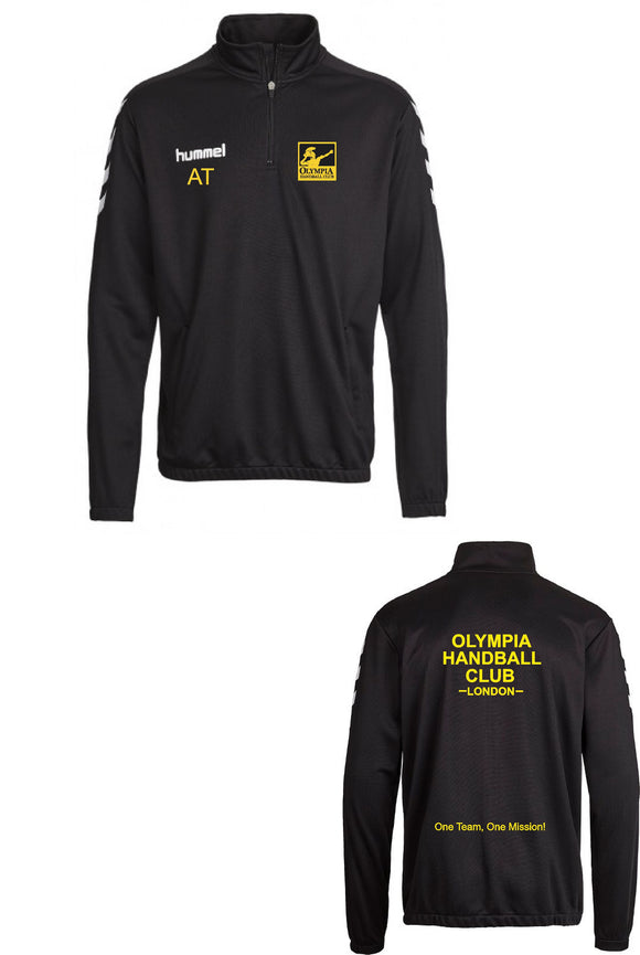 Hummel Olympia Handball Club Core 1/4 Zip Sweatshirt Mens/Boys