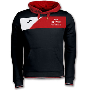 SWEATSHIRT CREW II HOODED BLACK-RED MENS University College Isle Of Man