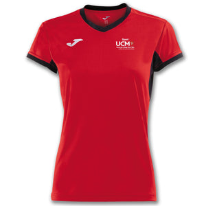 T-SHIRT CHAMPION IV RED-BLACK S/S WOMAN University College Isle Of Man
