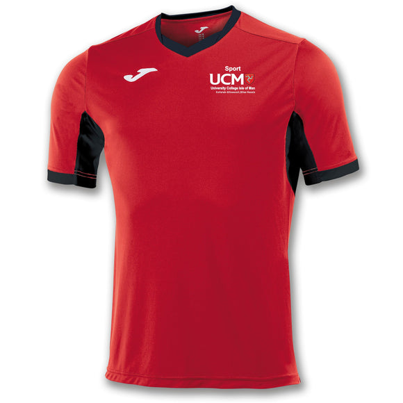 TRAINING T-SHIRT CHAMPION IV RED-BLACK SHORT/SLEEVE MENS University College Isle Of Man
