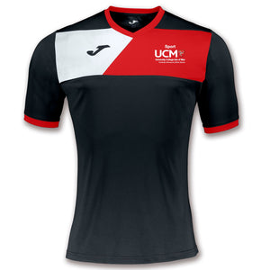 TRAINING T-SHIRT CREW II BLACK/RED SHORT/SLEEVE MENS University College Isle Of Man