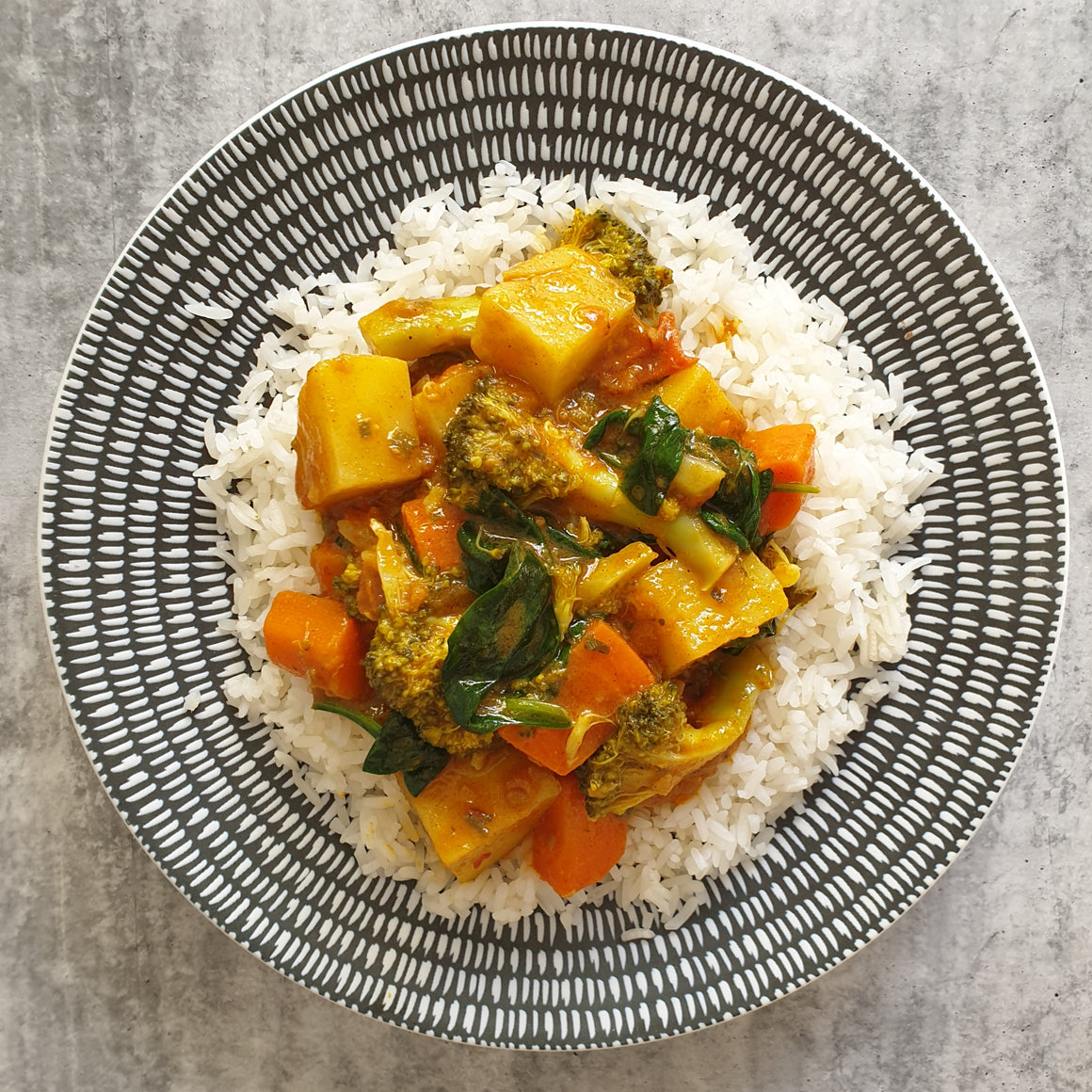 Veggie Curry w/ Coconut Rice - Foddies