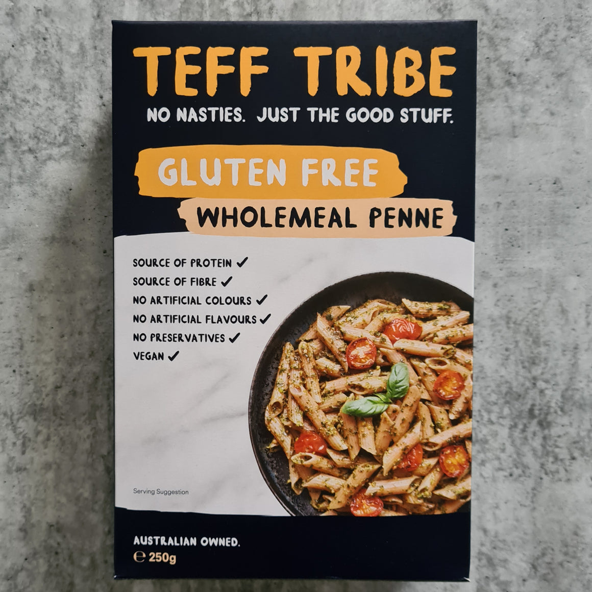 Teff Tribe - Wholemeal Penne (250g) - Foddies Low FODMAP