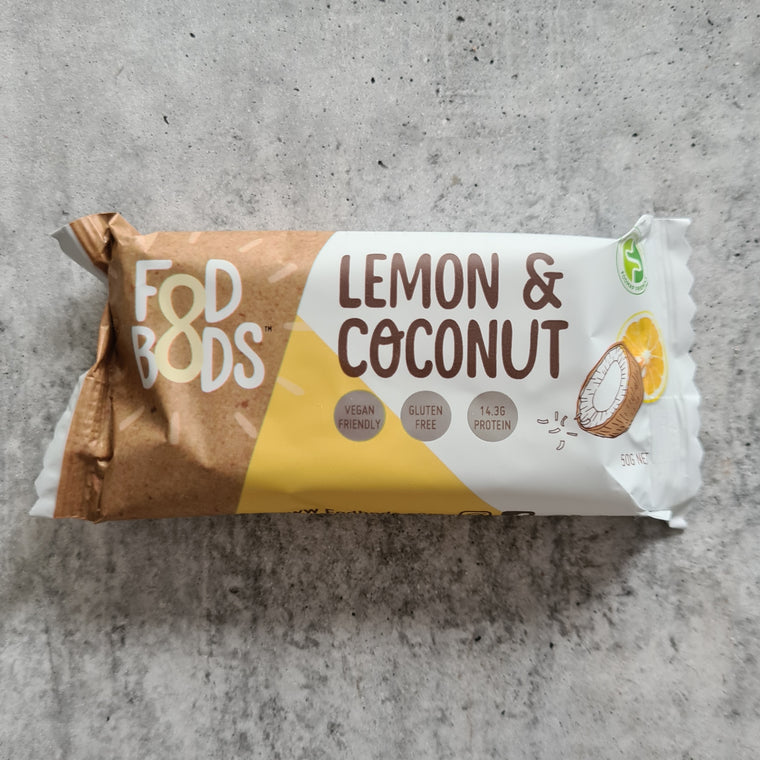 Fodbods - Lemon Coconut Bar (50g) - Foddies Low FODMAP