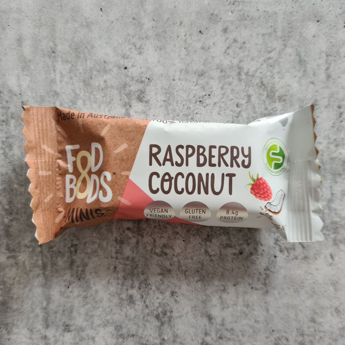 Fodbods - Raspberry Coconut Bar (30g) - Foddies Low FODMAP