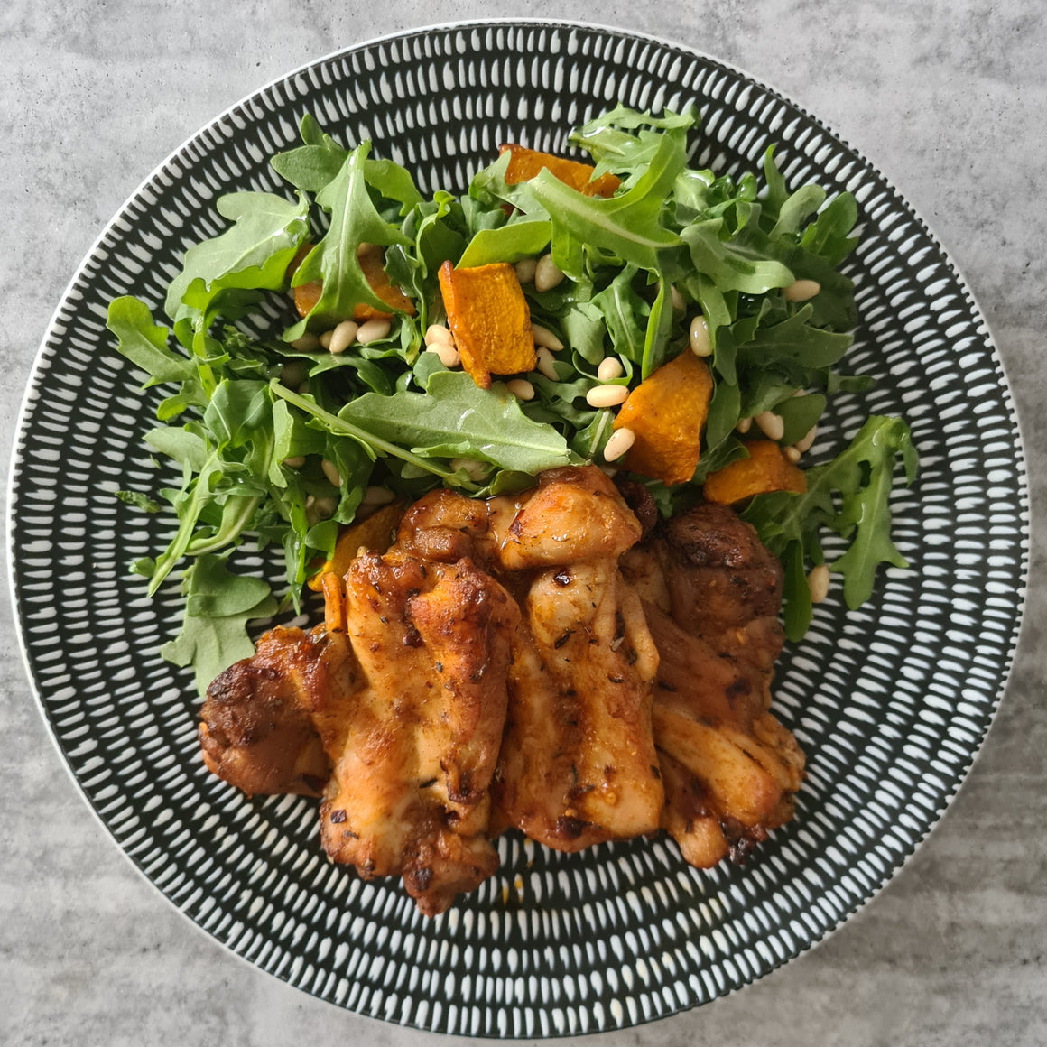 Cajun Chicken w/ Pumpkin Salad - Foddies
