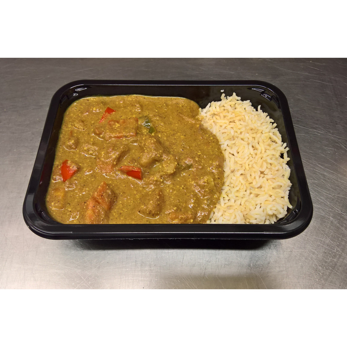 Veggie Korma & Brown Rice - 350g - Foddies Low FODMAP
