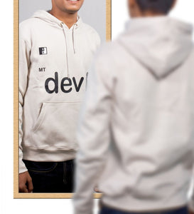 Live-Lived Silver Gray Hooded Sweatshirt - Men (Mirror View - Devil)