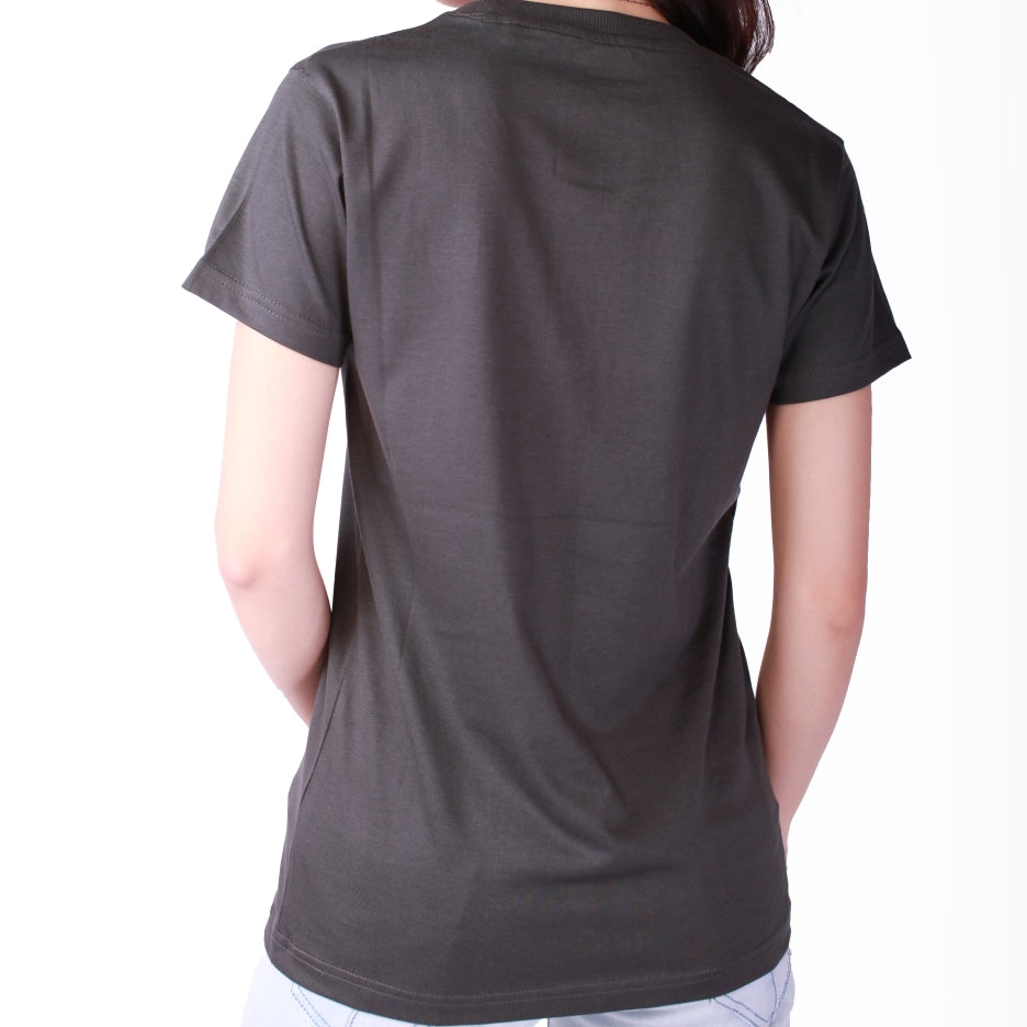 Live-Lived Black Crew Neck T-shirt Women (rear view)