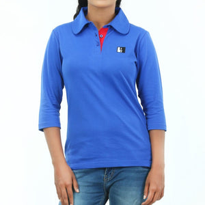 Live-Lived Blue Polo T-shirt long Sleeve 3/4 - Women