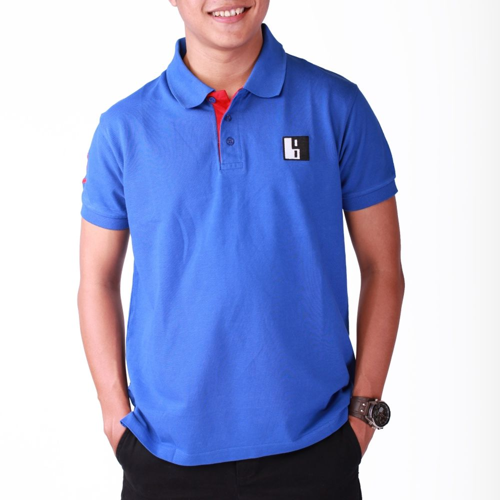 Live-Lived Blue Polo, Short Sleeve - Men
