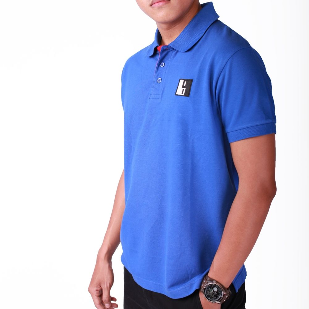 Live-Lived Blue Polo, Short Sleeve - Men (side view)