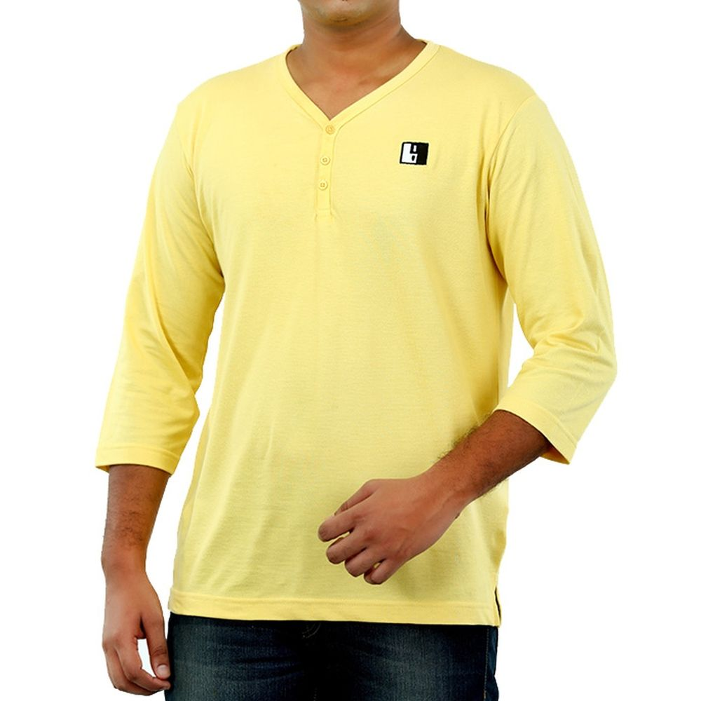 Live-Lived Golden Haze Henley, V neck - Men