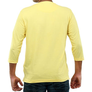 Live-Lived Golden Haze Henley, V neck - Men (rear view)