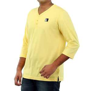 Live-Lived Golden Haze Henley, V neck - Men (side view)