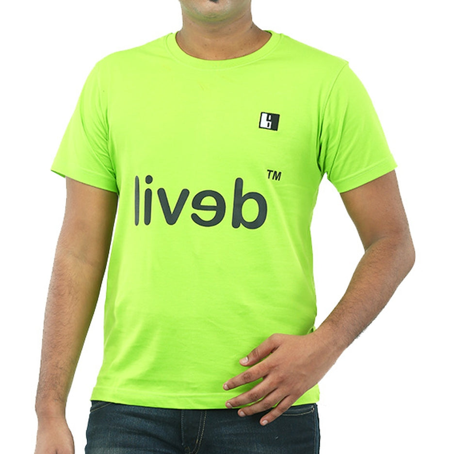 Live-Lived Lime (Green) Crew Neck T-shirt Men - Devil Mirror