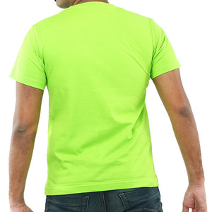 Live-Lived Lime (Green) Crew Neck T-shirt Men (rear view)