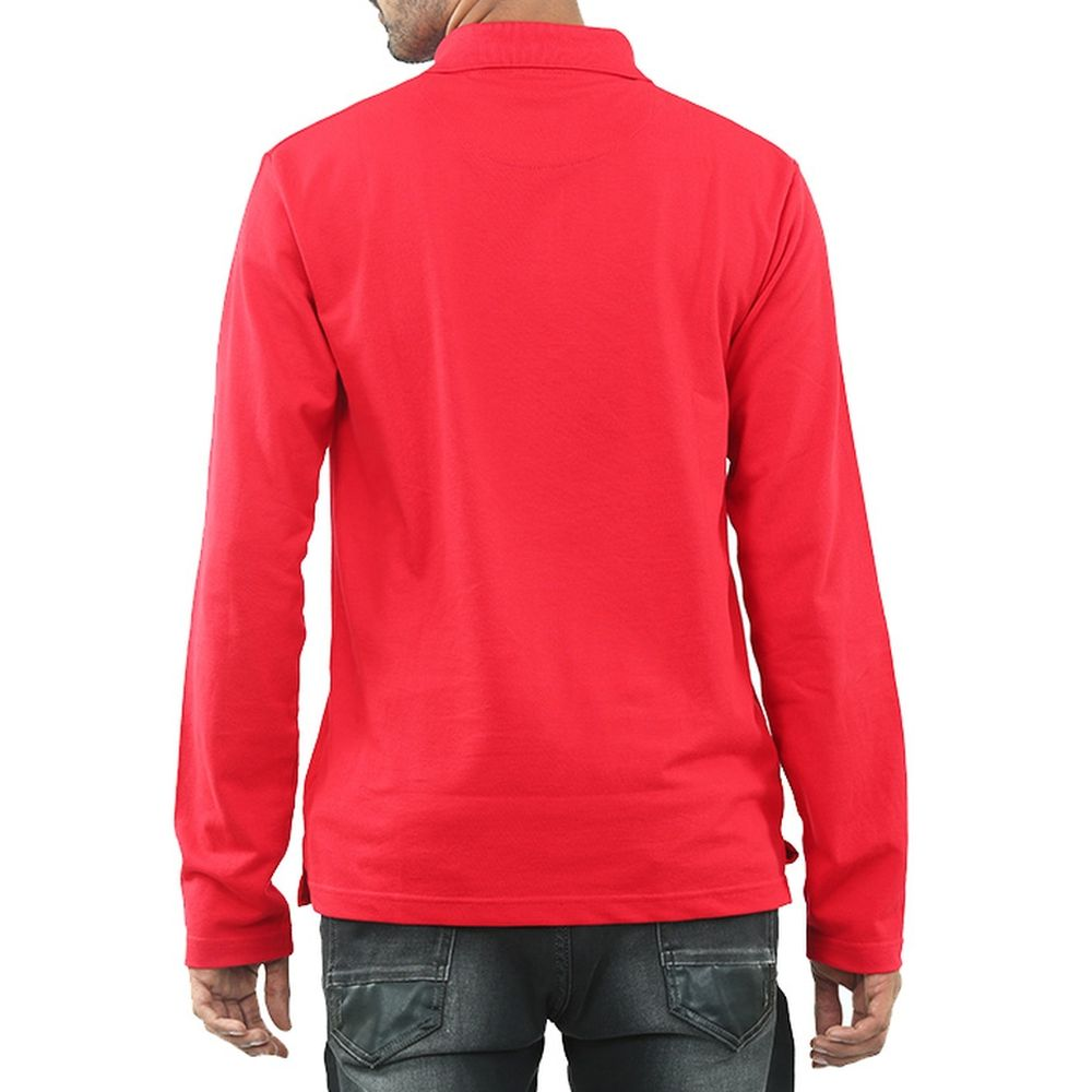 Live-Lived Red Polo T-shirt, full sleeve - Men (rear view)