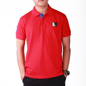 Red Polo T-shirt Short Sleeve - Men