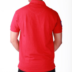 Red Polo T-shirt Short Sleeve - Men (rear view)
