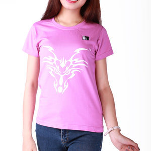 Live-Lived Orchid Crew Neck T-shirt, Short Sleeve - Women (Dragon Art)