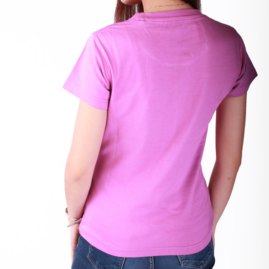 Live-Lived Orchid Crew Neck T-shirt, Short Sleeve- Women (rear view)
