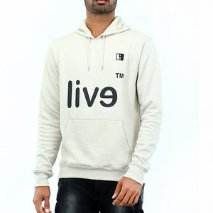 Live-Lived Silver Gray Hooded Sweatshirt - Men (Evil Mirror)
