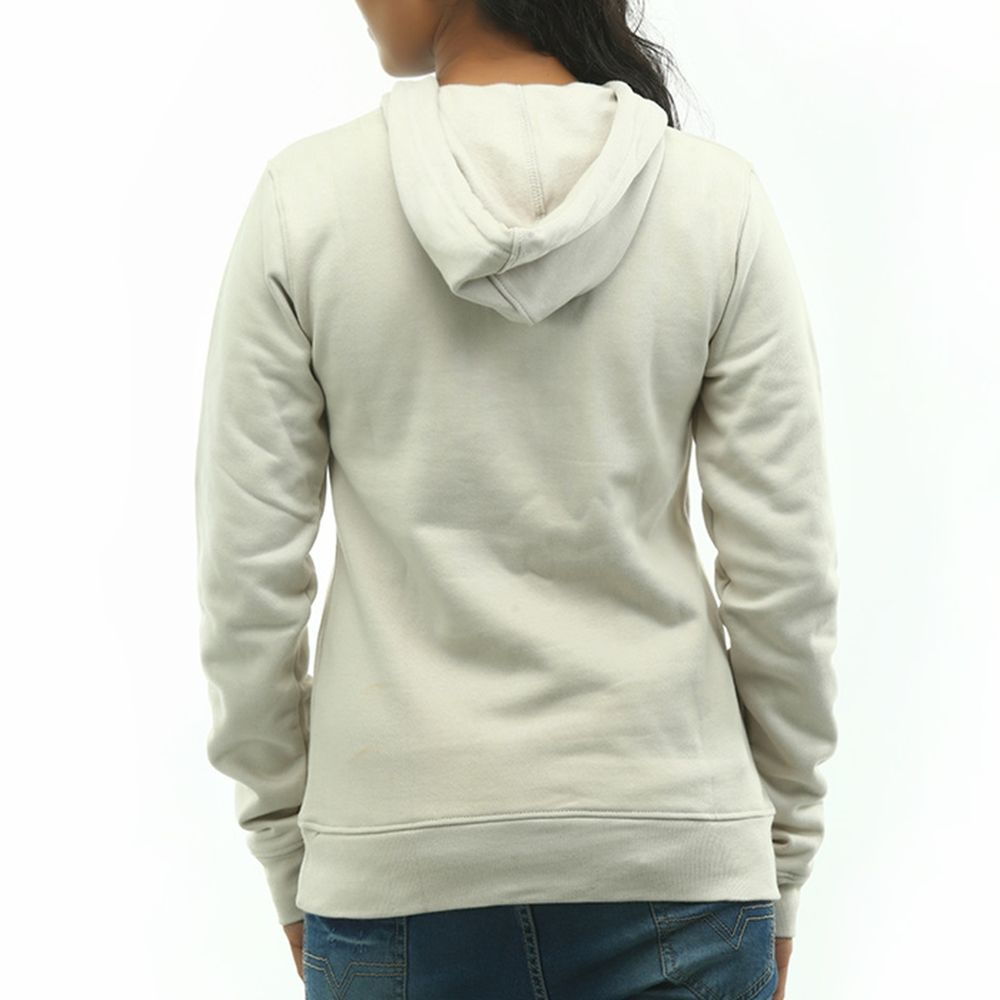 Live-Lived Silver Gray Hooded Sweatshirt - Women (rear view)