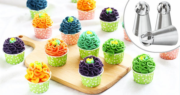 Spherical Russian Tip Collection with FREE Korean Icing Tips
