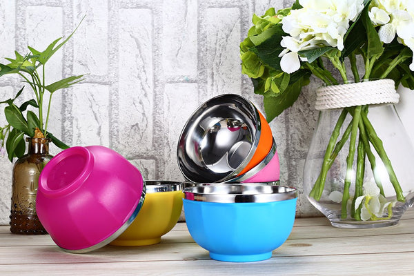 6 Candy-Colored Mixing Bowls