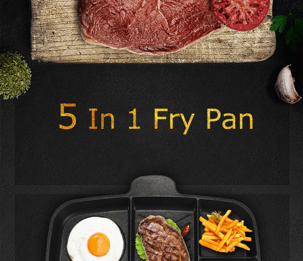 5-in-1 Non-Stick Grill and Frying Pan