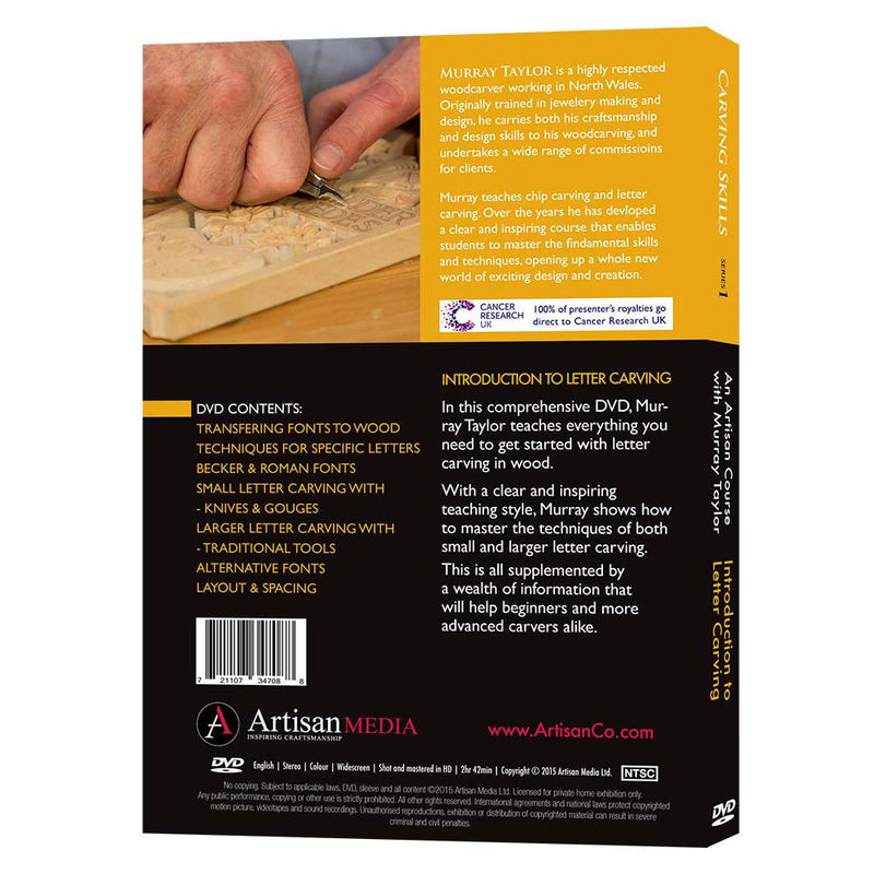 Introduction To Letter Carving - Murray Taylor (DVD)
