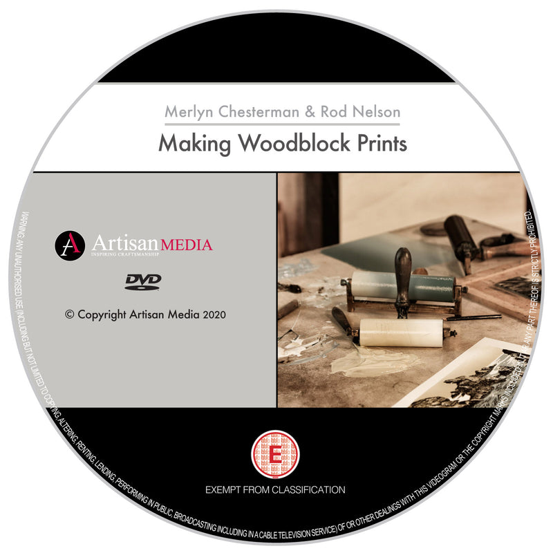Making Woodblock Prints - a complete guide. (DVD)