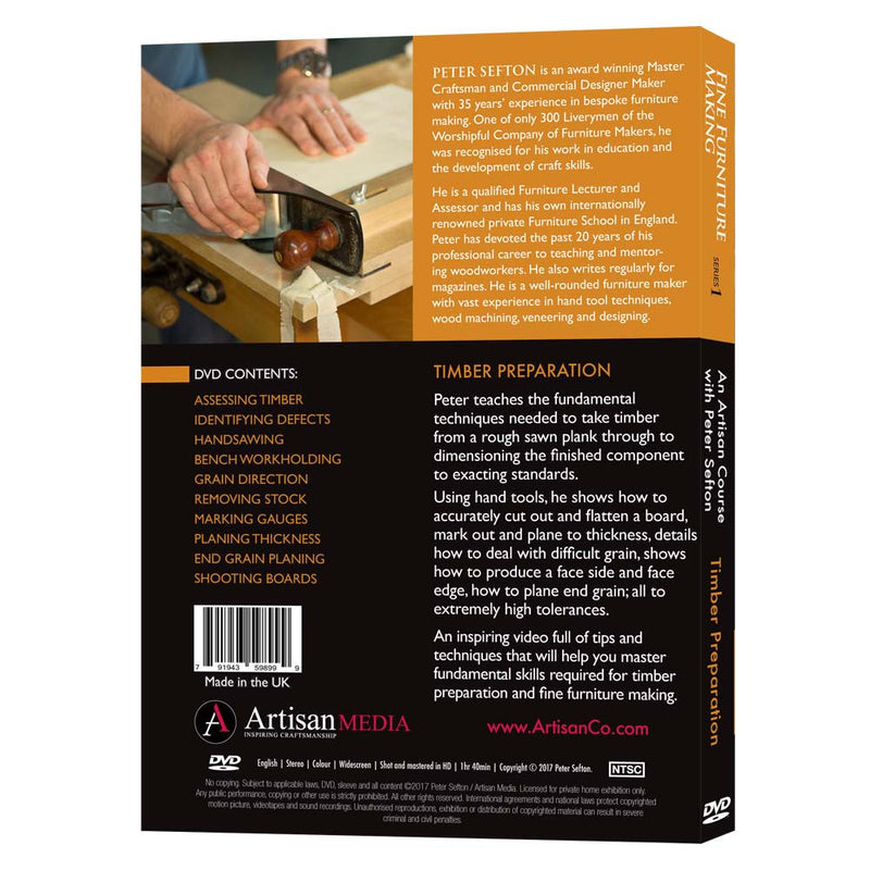 Timber Preparation - Peter Sefton (DVD)