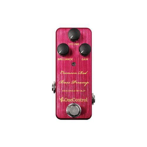 Crimson Red Bass Preamp  One Control - PEDALDIG (エフェクターレンタル)