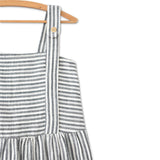 Kit Clarice Dress Linen-Cotton Stripes
