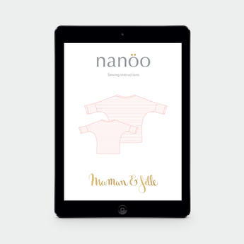 MAMAN ET FILLE: (Pack of 2 patterns) Top and dress Nanöo pattern to download